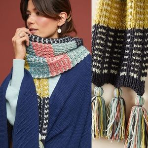 VERY RARE NWT ANTHROPOLOGIE At the Lodge Scarf HTF